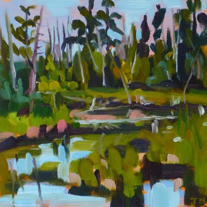 """Little Swamp"" original fine art by Jessica Miller"