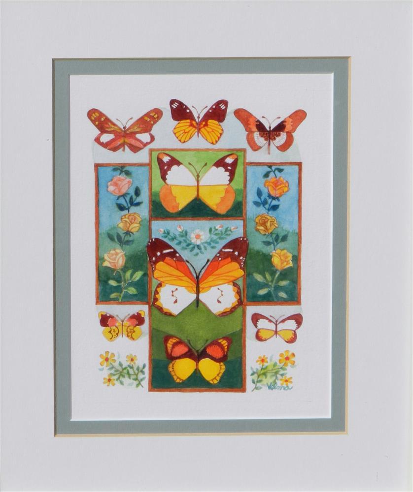 """""""Cross with Butterflies #1"""" original fine art by Velma Davies"""