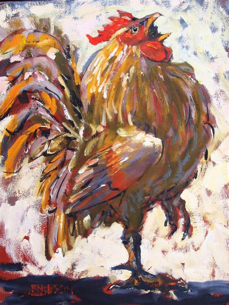 """Rooster Tax"" original fine art by Rick Nilson"