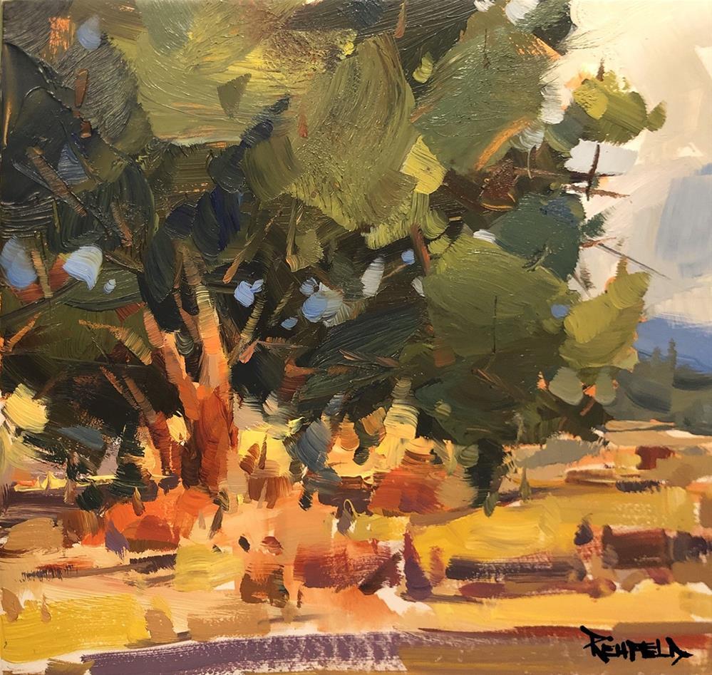 """""""The Beauty of Oak Trees"""" original fine art by Cathleen Rehfeld"""
