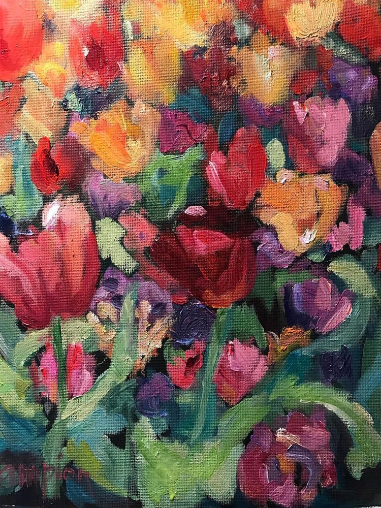 """931 Springtime, Michigan Avenue"" original fine art by Diane Campion"