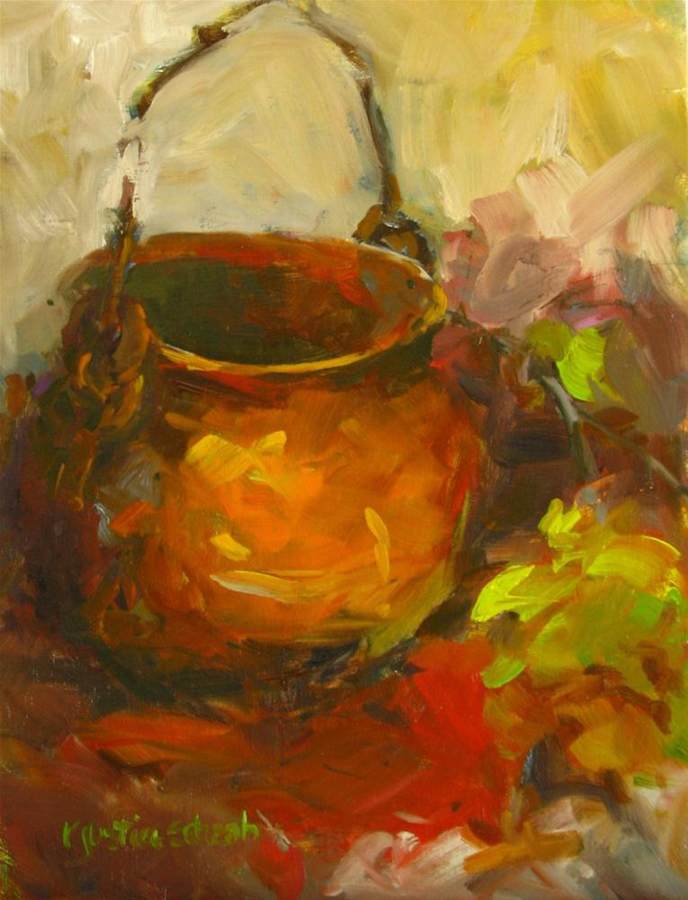 """Copper Pot"" original fine art by Rebecca Justice-Schaab"
