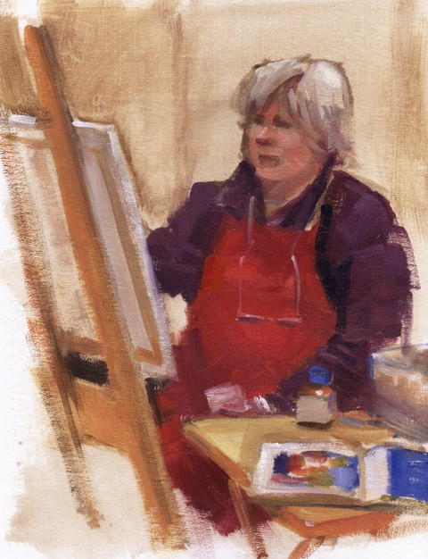 """""""Painting the painters"""" original fine art by Kathy Weber"""