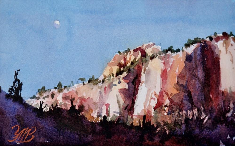 """""""Zion Moon Study"""" original fine art by Brienne M Brown"""