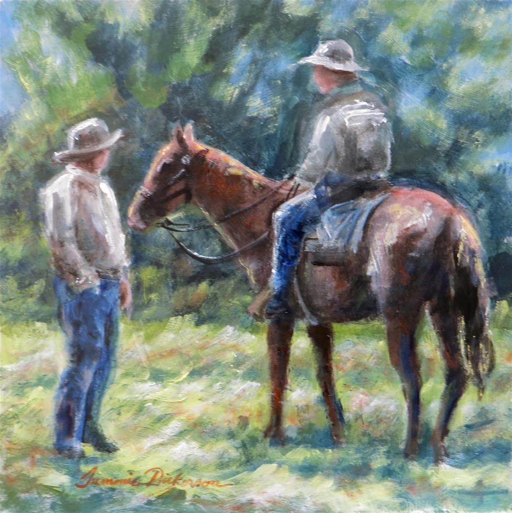 """Cowboy Talk"" original fine art by Tammie Dickerson"