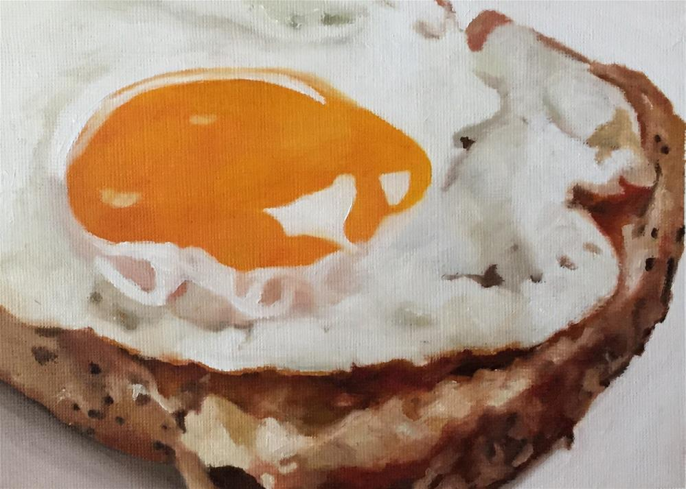 """Fried Egg On Toast"" original fine art by John Cameron"