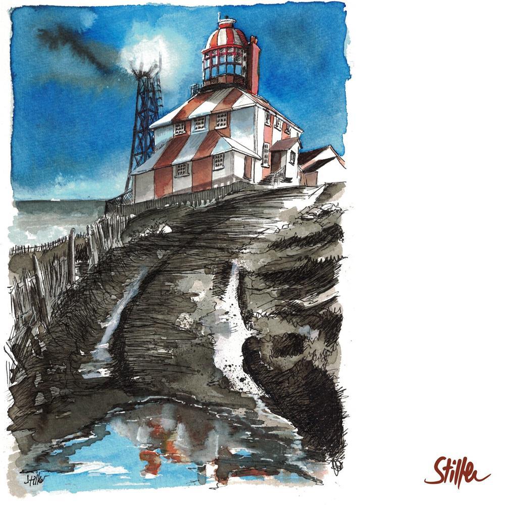 """""""3447 Lighthouse Circus"""" original fine art by Dietmar Stiller"""