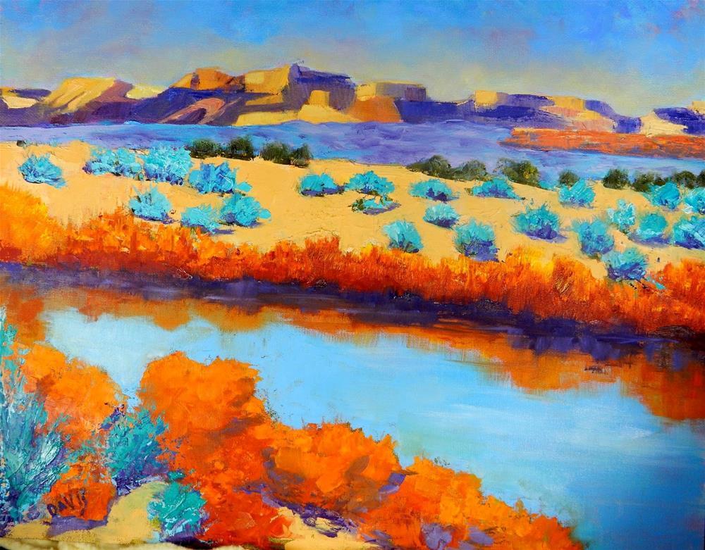 """Rio at Big Bend"" original fine art by Phyllis Davis"
