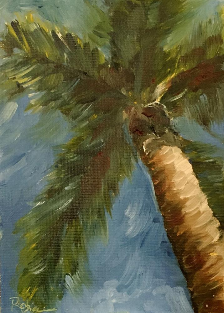 """Florida Palm #1"" original fine art by Renee Robison"