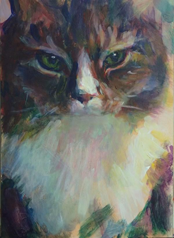 """Tribute to Tunder"" original fine art by Sharon Savitz"