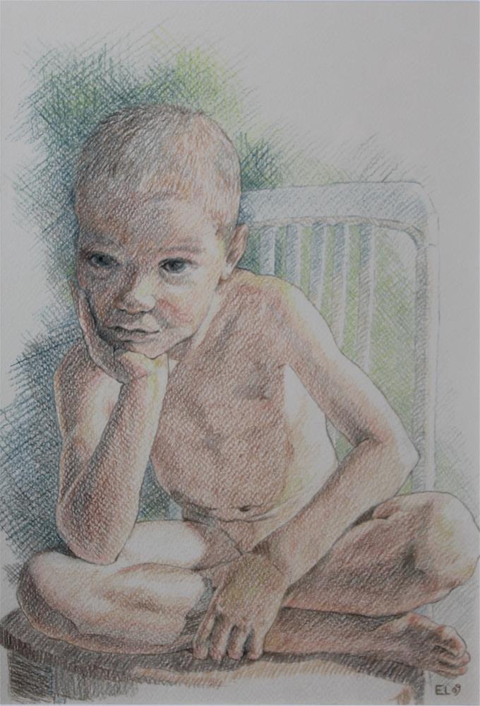 """Deep Thoughts"" original fine art by Emilia Leinonen"