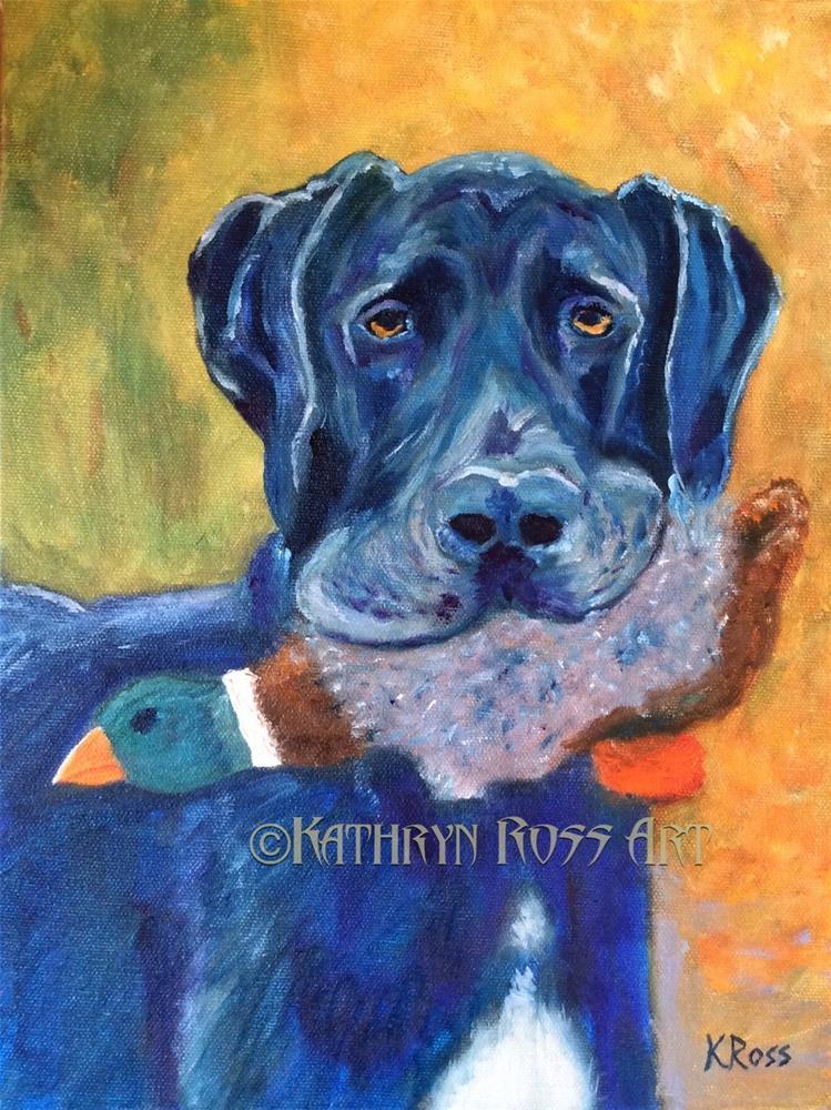 """""""It's mine!"""" original fine art by Kathryn Ross"""