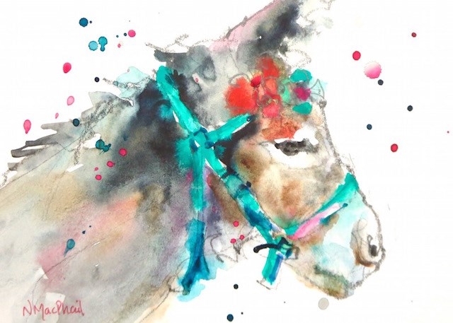 """""""ready for the party"""" original fine art by Nora MacPhail"""