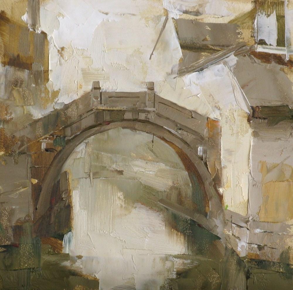 """""""A Stone Bridge"""" original fine art by Qiang Huang"""