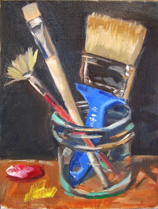 """Old, New, Borrowed and Blue"" original fine art by Karen Boe"