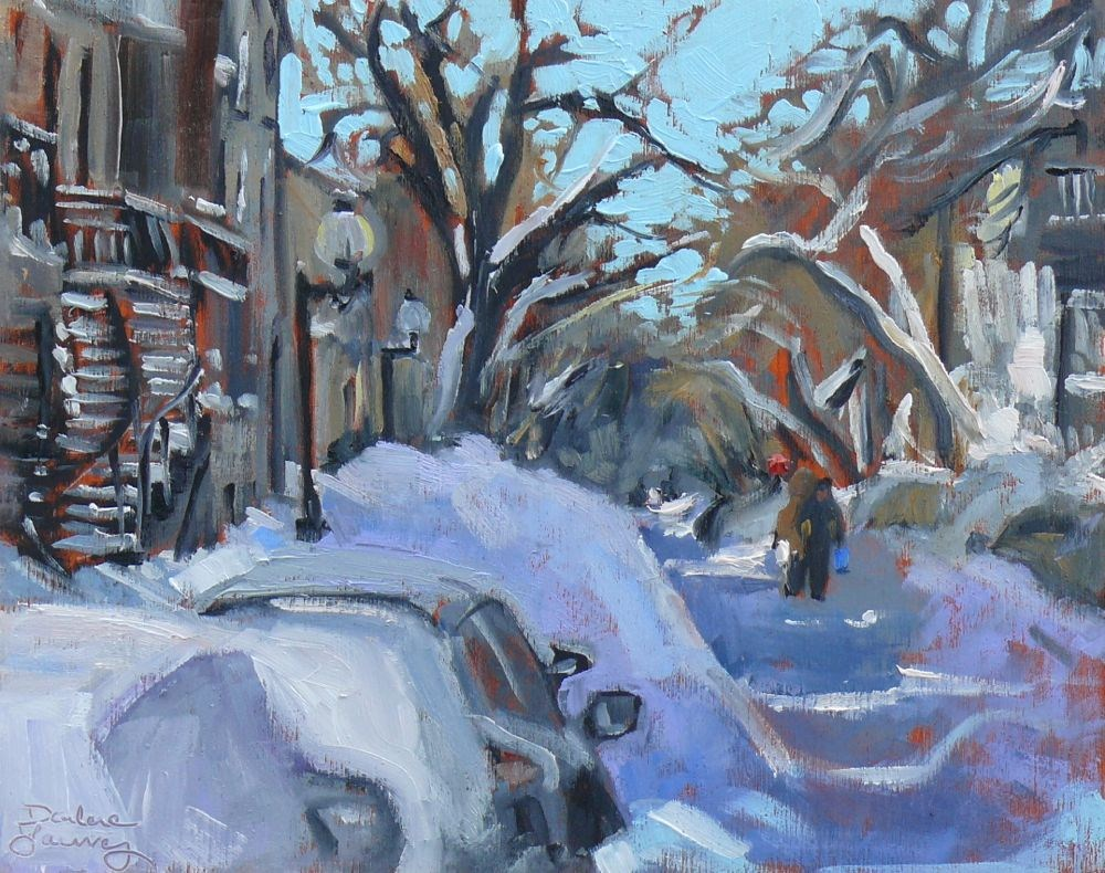 """559 Montreal Winter Scene"" original fine art by Darlene Young"