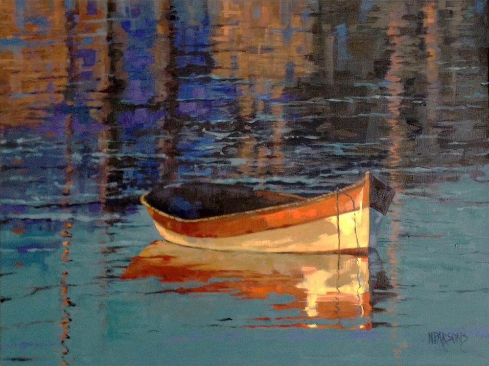 """""""Reflecting at Day's End"""" original fine art by Nancy Parsons"""