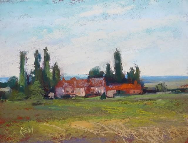 """Food and Friends....Impressions of France part 8"" original fine art by Karen Margulis"