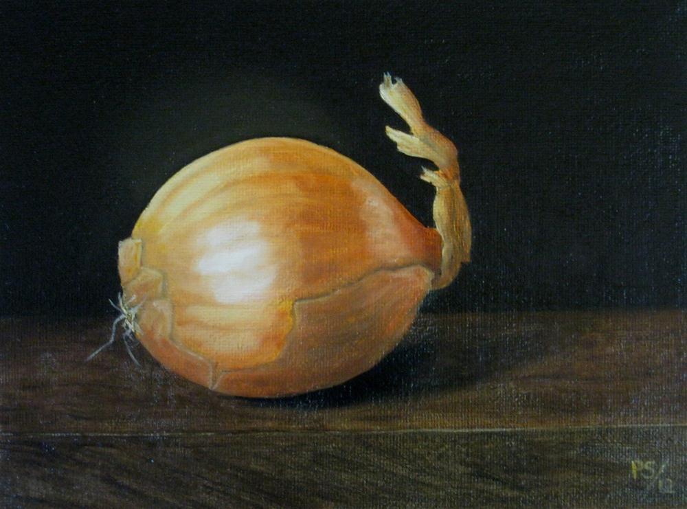 """Brown Onion II"" original fine art by Pera Schillings"