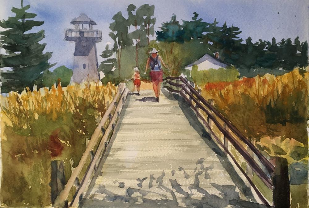 """A walk in the Park"" original fine art by Katharine Engh"