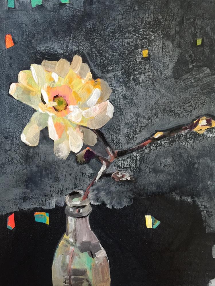 """""""229 Chalkboard Flower"""" original fine art by Jenny Doh"""