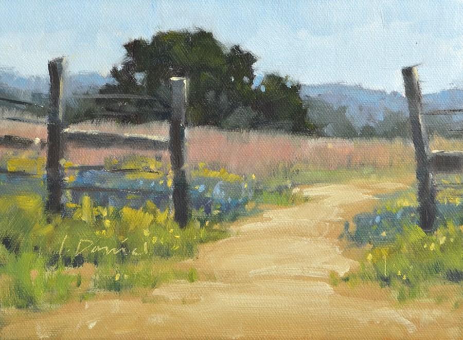"""Hill Country Ranch"" original fine art by Laurel Daniel"