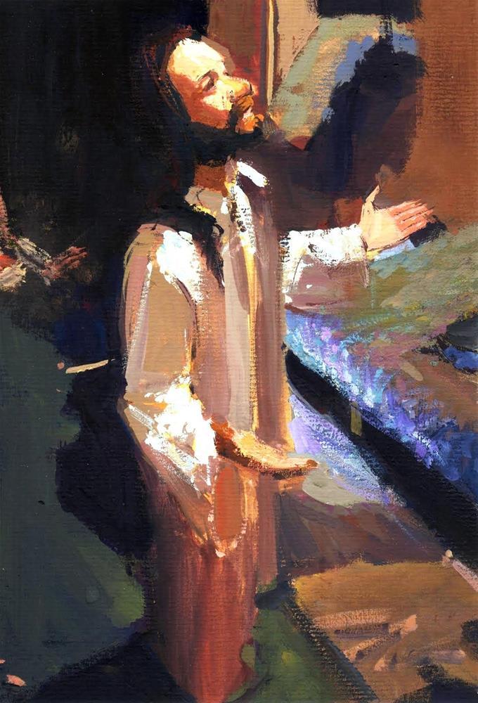 """Christ in my clutter"" original fine art by Adebanji Alade"
