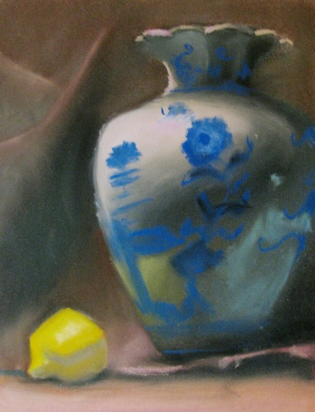 """Still Life with Lemon"" original fine art by Lori Jacobs - Farist"
