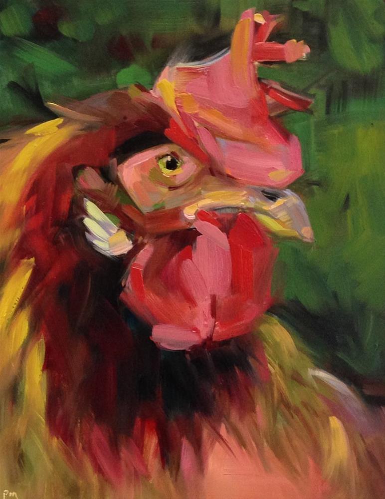 """""""Henrietta Wears a Treacy Hat"""" original fine art by Patti McNutt"""