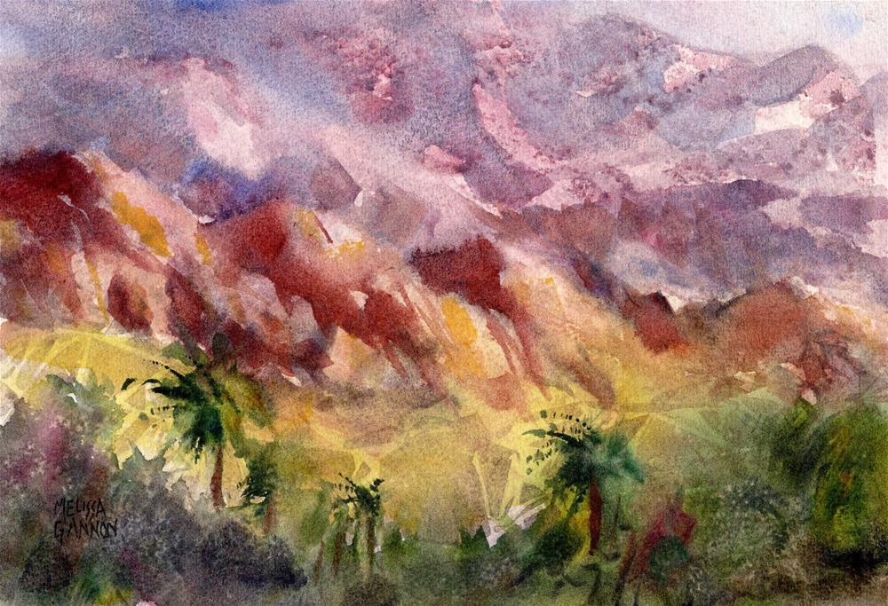 """""""A Sparkle in the Mountains"""" original fine art by Melissa Gannon"""