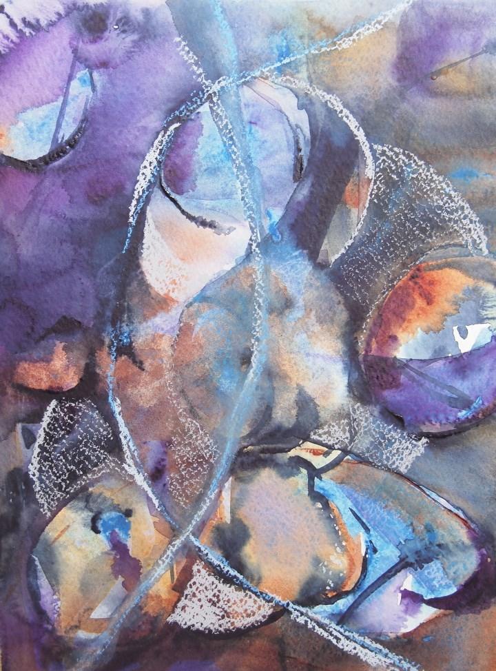 """Turning World"" original fine art by Amy Bryce"