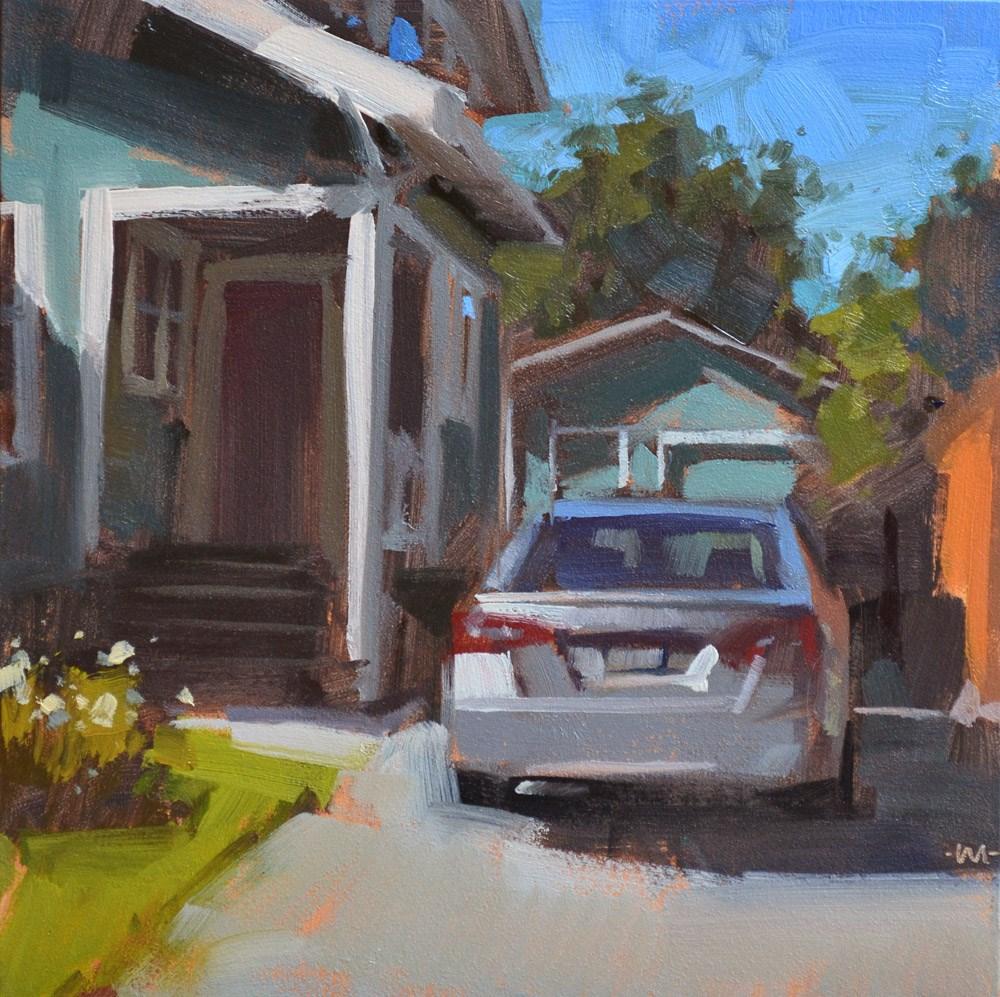 """Home From Work"" original fine art by Carol Marine"
