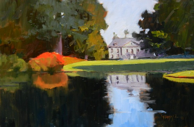 """""""The Bloedel Mansion plein air, oil, landscape painting by Robin Weiss."""" original fine art by Robin Weiss"""