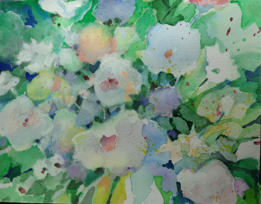 """wall flowers"" original fine art by meribeth coyne"