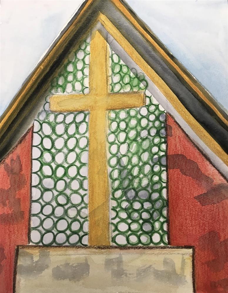 """#26 - #30in30 St. Timothy's Chapel"" original fine art by Kimberly Balentine"