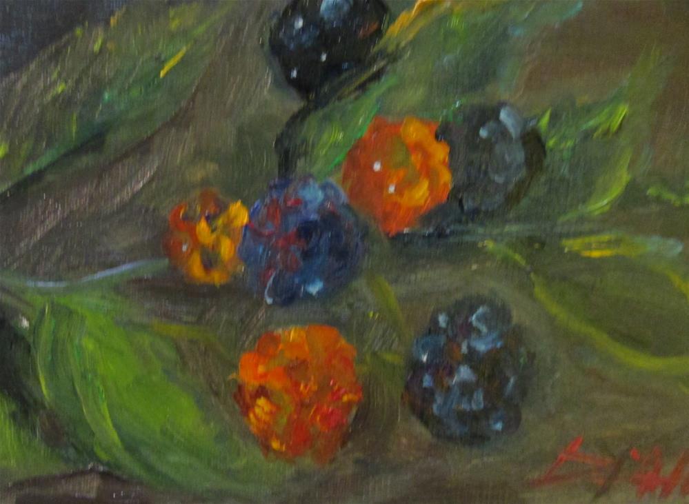 """Raspberry Bush No. 2"" original fine art by Delilah Smith"
