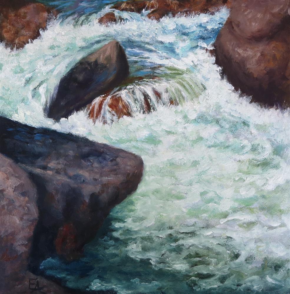 """""""Colorado River"""" original fine art by Elizabeth Elgin"""