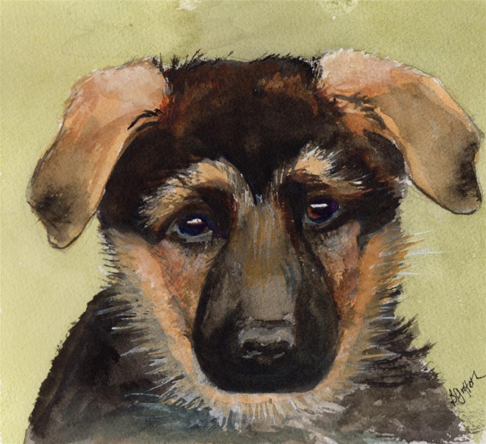 """""""Puppy #1"""" original fine art by Bunny Griffeth"""