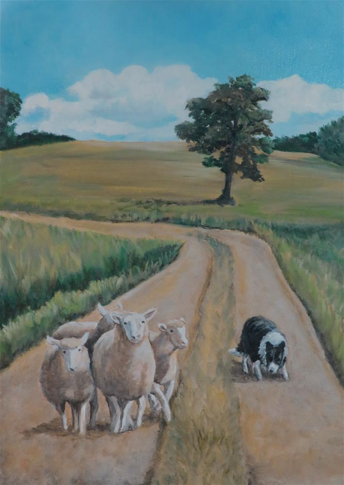 """Bringing in the Sheep"" original fine art by Charlotte Yealey"