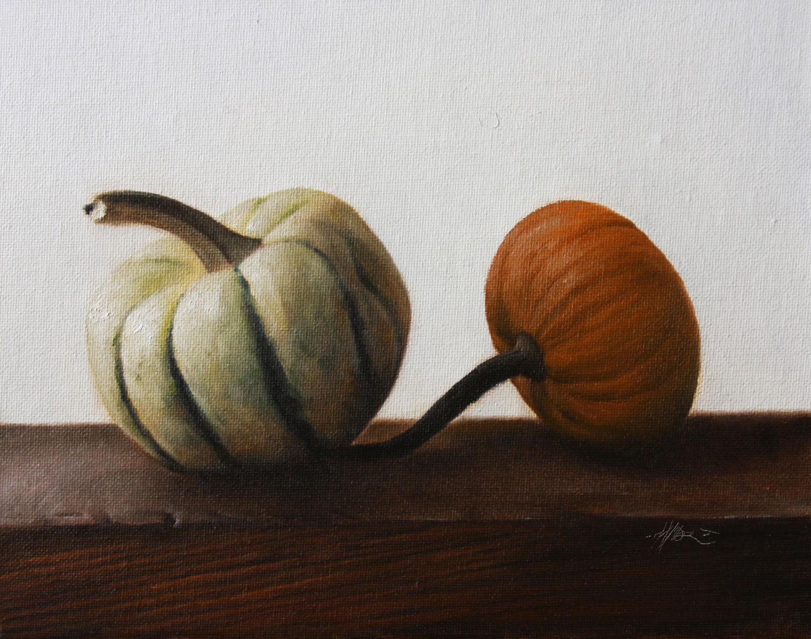 """Propped Squash"" original fine art by Jonathan Aller"