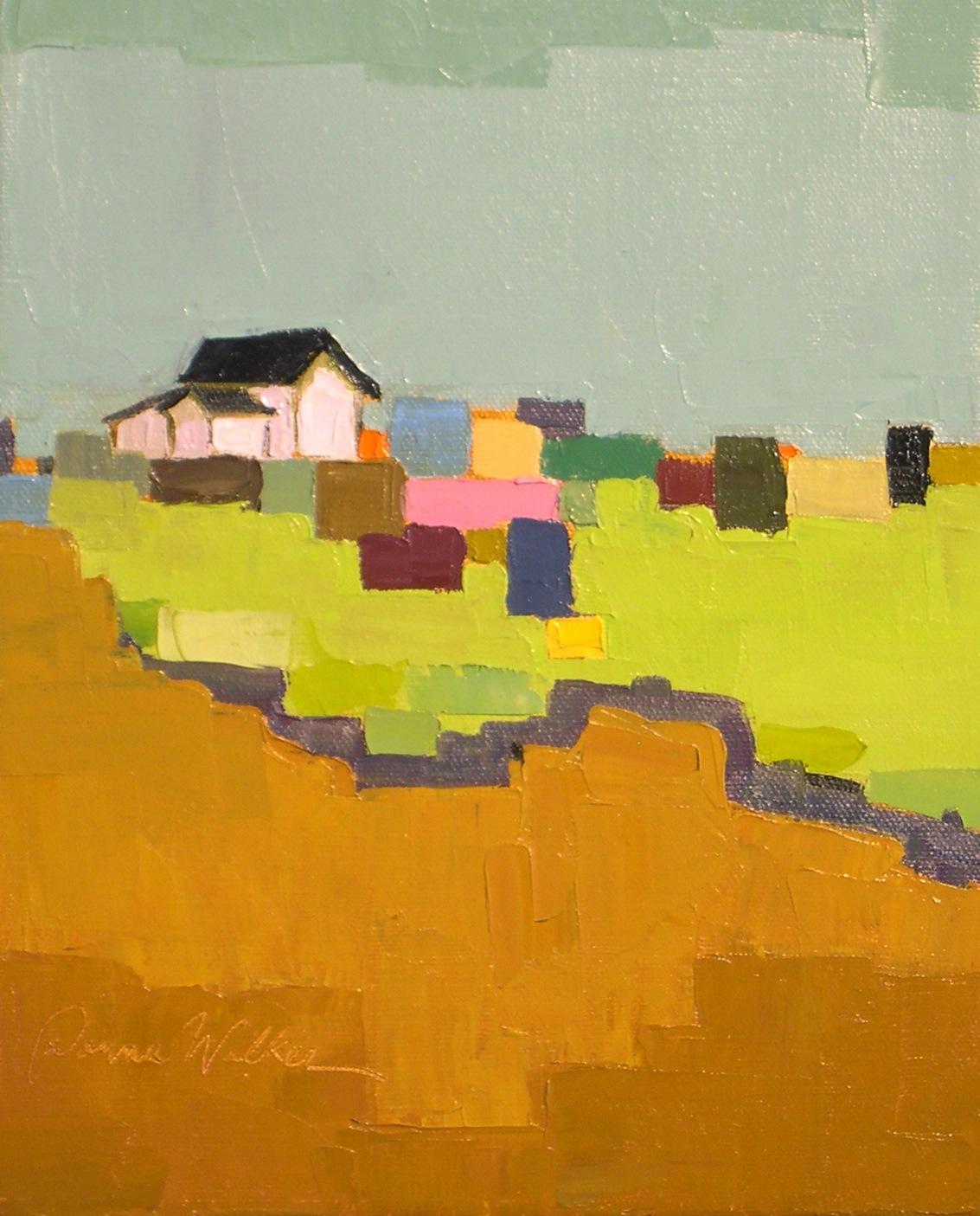 """""""Farm Quilt III"""" original fine art by Donna Walker"""