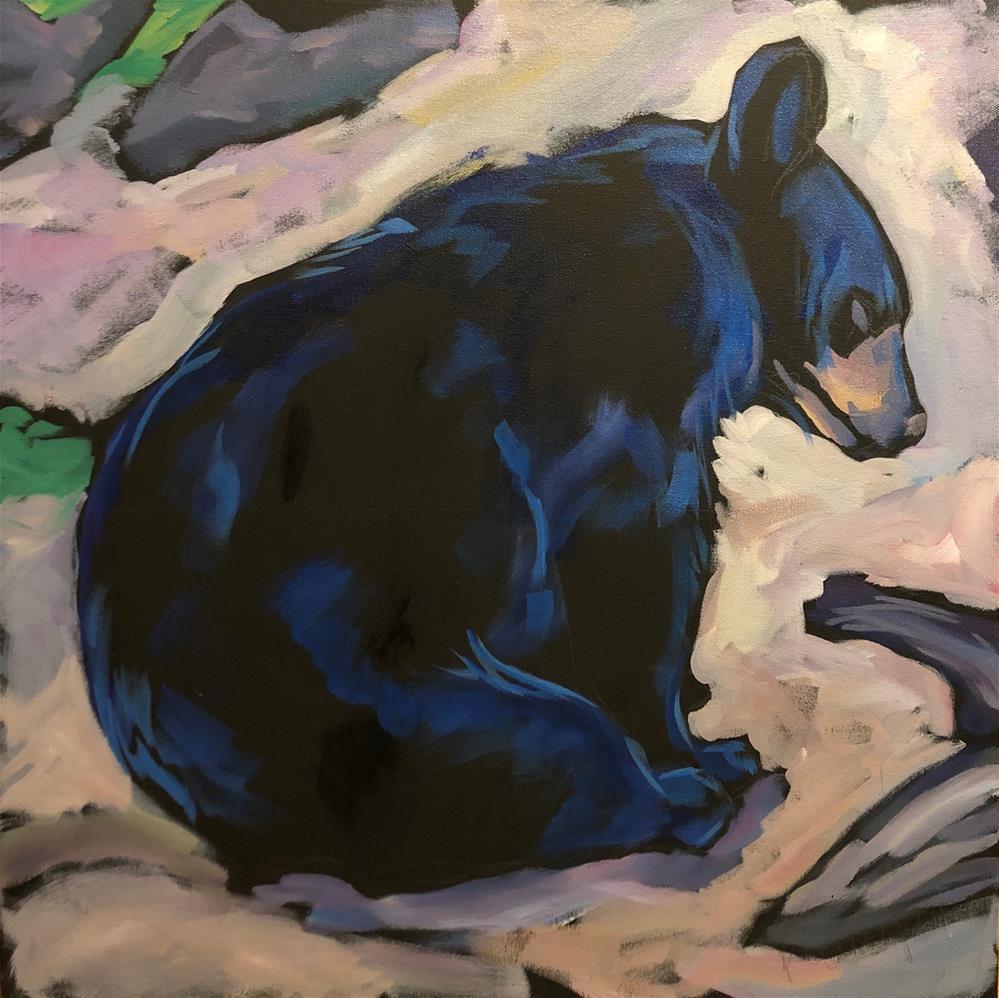 """""""North Shore Yoga"""" original fine art by Kat Corrigan"""