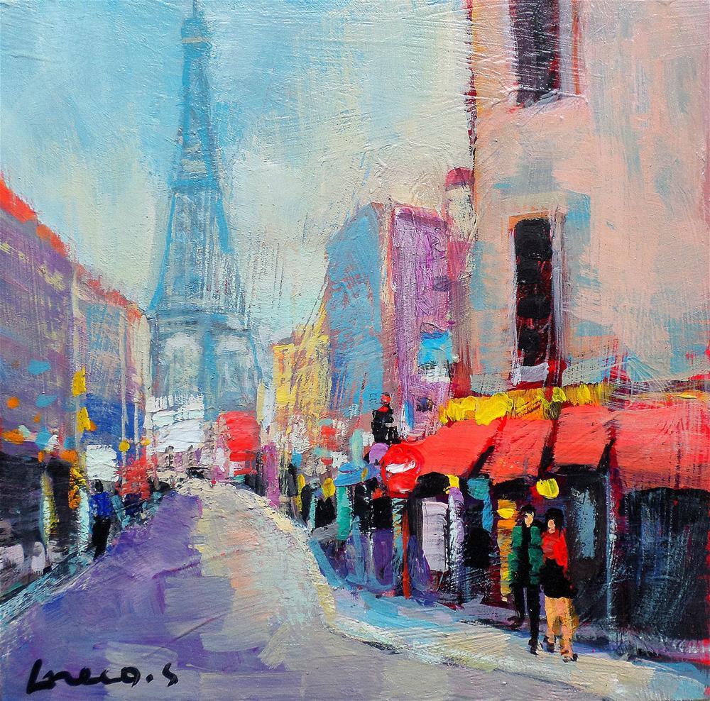 """Street in paris"" original fine art by salvatore greco"