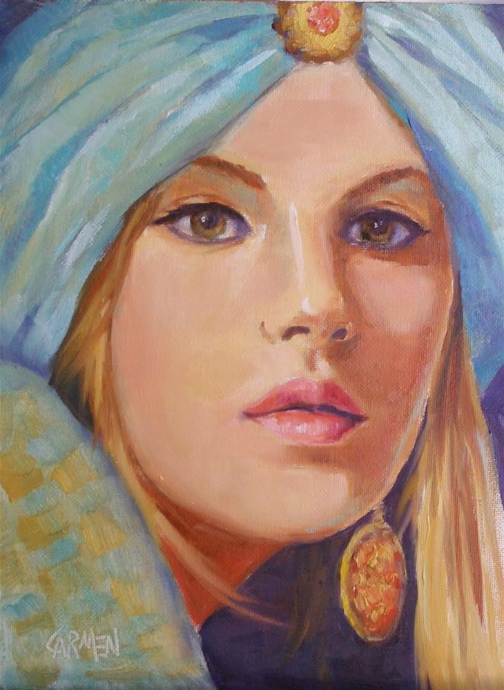 """""""Sultry, 6x8 Oil on Canvas"""" original fine art by Carmen Beecher"""