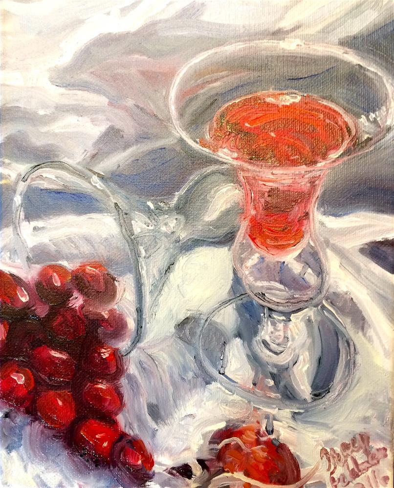 """Cranberry Cordial 1"" original fine art by Tracy Feldman"