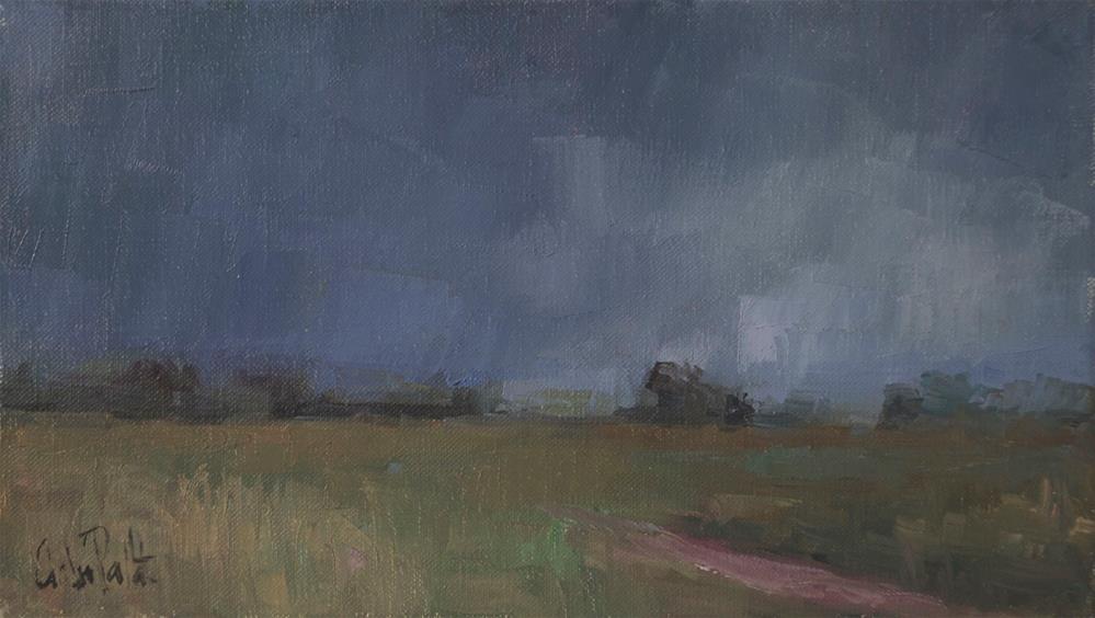 """Dark Sky and Sussex Fields"" original fine art by Andre Pallat"