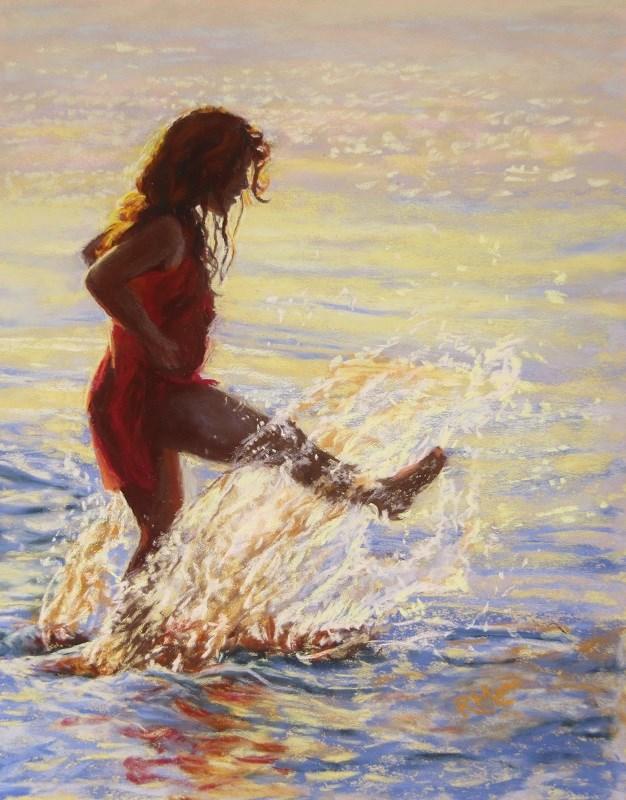 """""""Splash!"""" original fine art by Ruth Mann"""