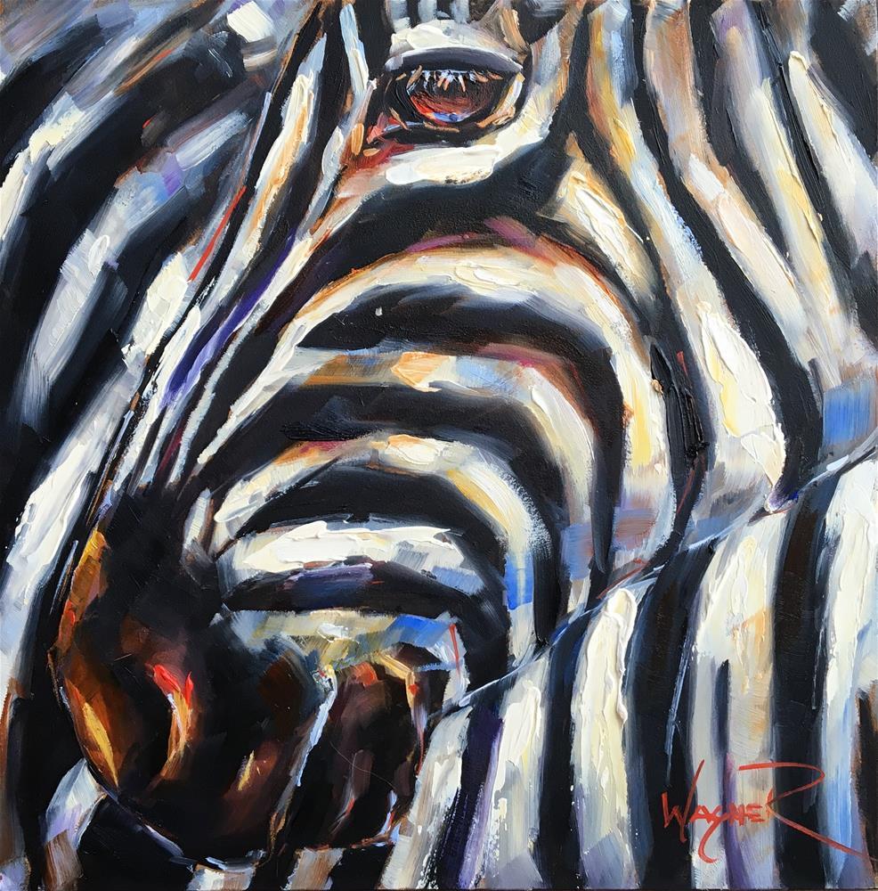 """ALL STRIPES"" original fine art by Olga Wagner"