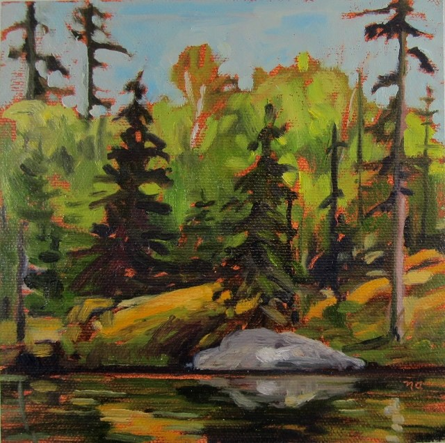 """Quiet Place, Sulphide Lake"" original fine art by Nicki Ault"