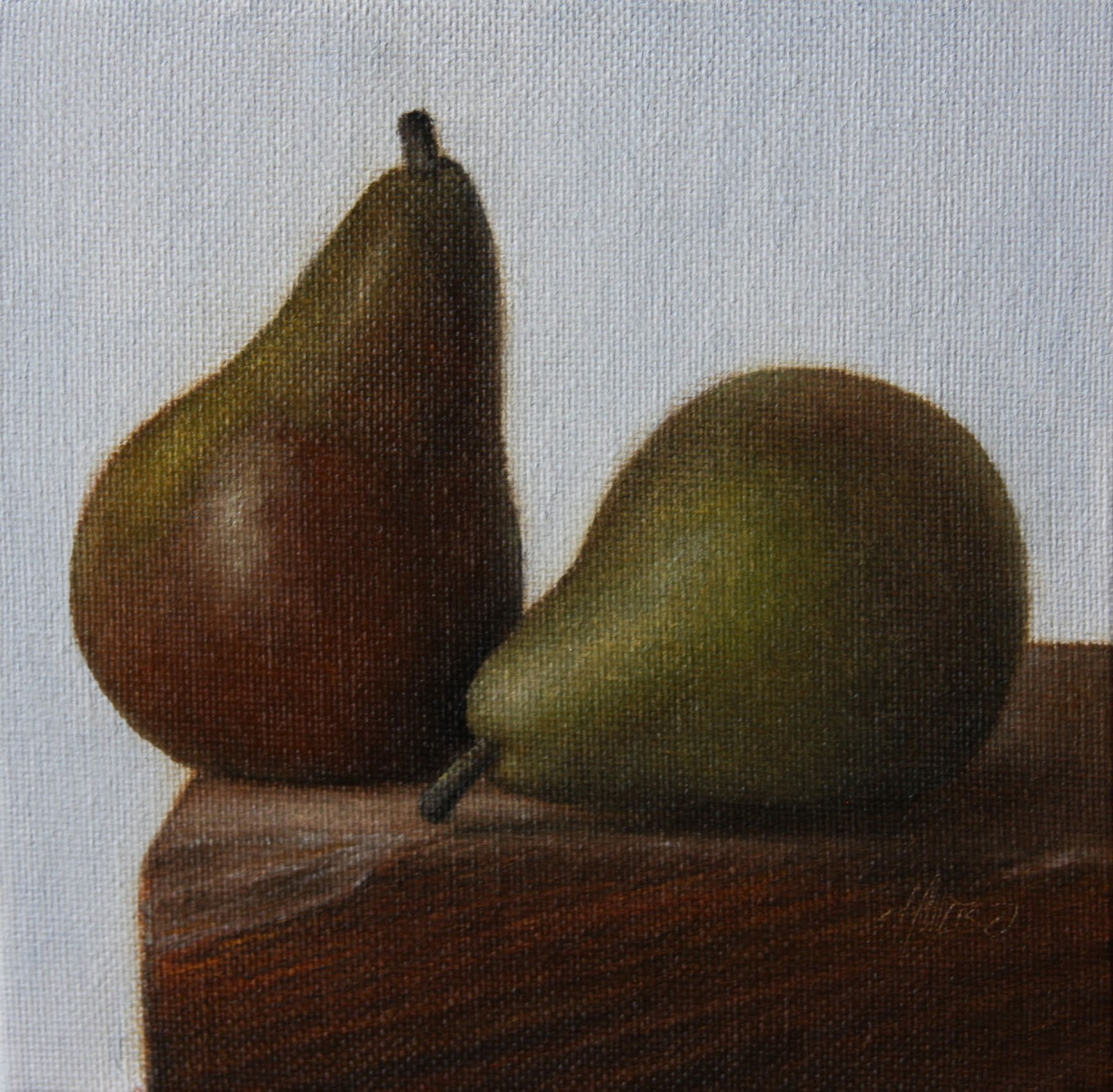 """Seckel Pears"" original fine art by Jonathan Aller"